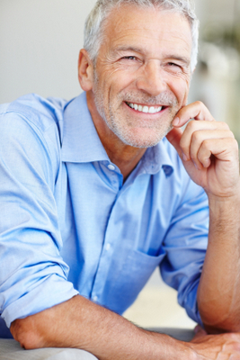 Smiling man with dental implants - Alder Dental in Vancouver, WA